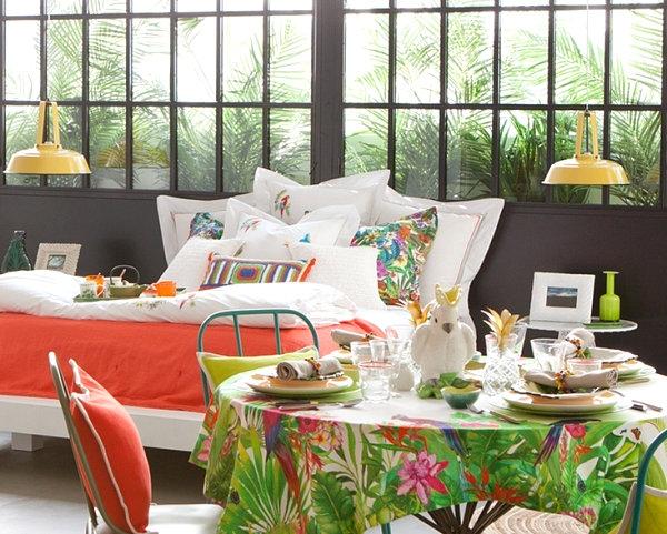 tropické dekorace