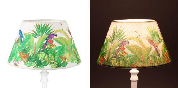 tropická lampa