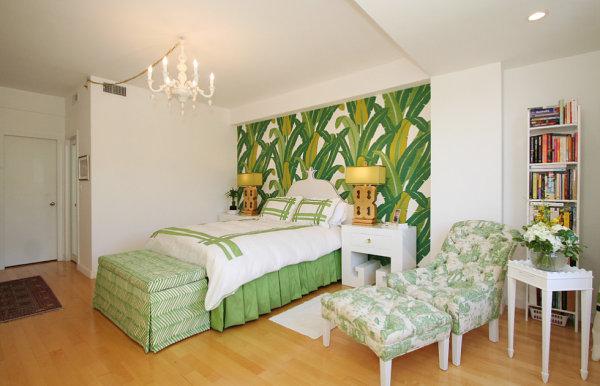 tropický interiér