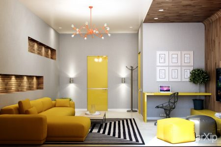 bright-yellow-interior-door-2